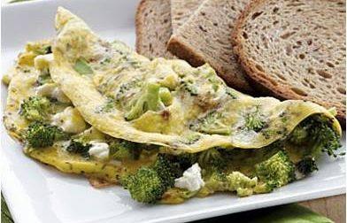 Omelet Brokoli Sehat dengan Roti Gandum