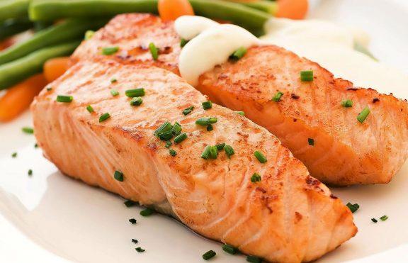 Salmon Panggang Teh Hijau
