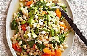 Salad Lemon Kacang Putih Wortel dan Bayam Sehat