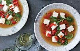 Sup Tomat dan Tahu Ala Jepang