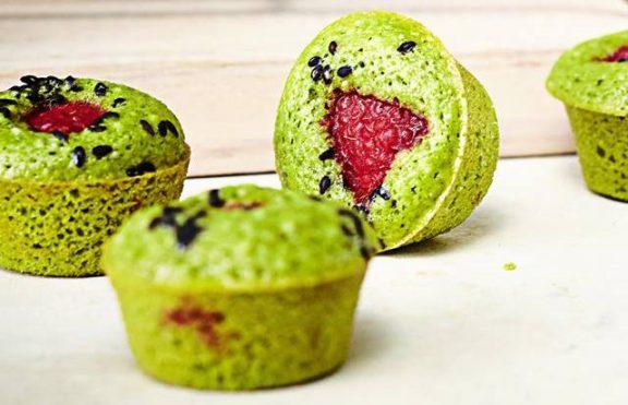 Muffin Raspberry Matcha