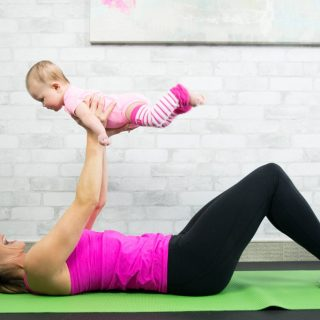 Mom And Baby Tummy Toning Exercise