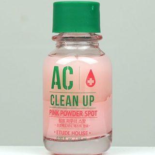 Review Etude House AC Clean Up Pink Powder Spot: Menyembuhkan Jerawat Dalam 4 Hari!