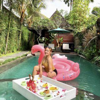 Free Floating Breakfast at Bisma Cottages Ubud